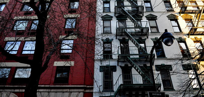 Newly renovated apartment building